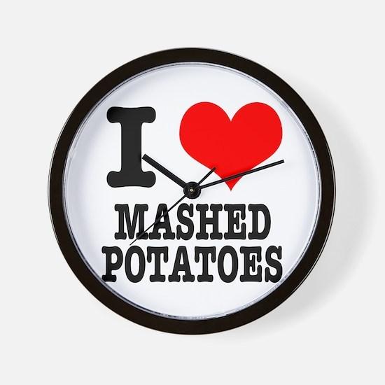 I Heart (Love) Mashed Potatoes Wall Clock