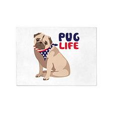 Pug Live 5'x7'Area Rug