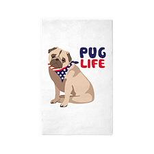 Pug Live 3'x5' Area Rug
