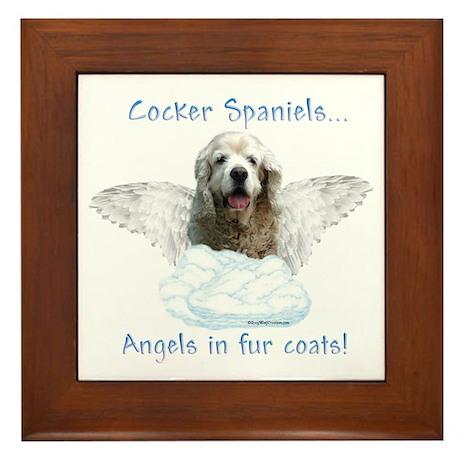 Cocker Angel Framed Tile