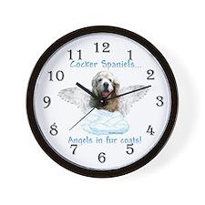 Cocker Angel Wall Clock