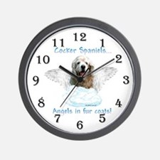 Cocker Angel Wall Clock