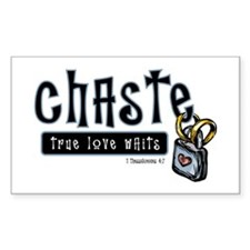 Chaste True Love Waits Rectangle Decal