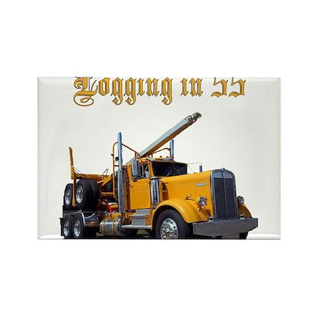 Logging in 55 Rectangle Magnet (10 pack)