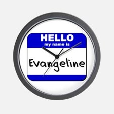 hello my name is evangeline  Wall Clock