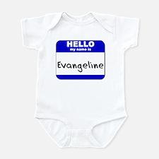 hello my name is evangeline  Infant Bodysuit