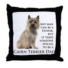 Cairn Terrier Dad Throw Pillow