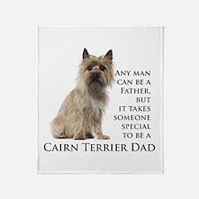 Cairn Terrier Dad Throw Blanket