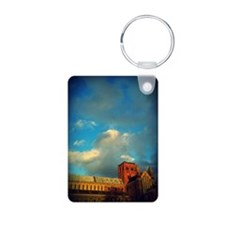 st_albans_cathedral Aluminum Photo Keychain