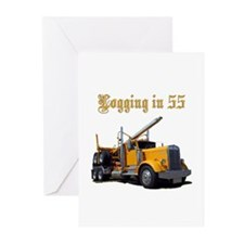 Logging in 55 Greeting Cards (Pk of 10)
