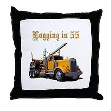 Logging in 55 Throw Pillow