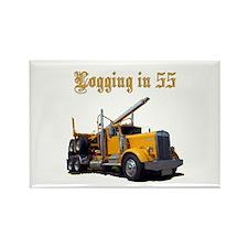 Logging in 55 Rectangle Magnet