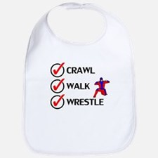 Crawl Walk Wrestle Bib
