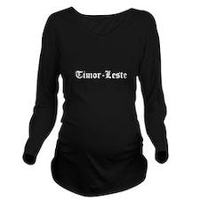 Timor-Leste Long Sleeve Maternity T-Shirt