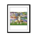 Lilies & Boxer Framed Panel Print