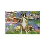 Lilies & Boxer Rectangle Magnet (10 pack)