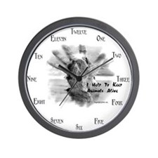Help to keep animals alive - Wall Clock