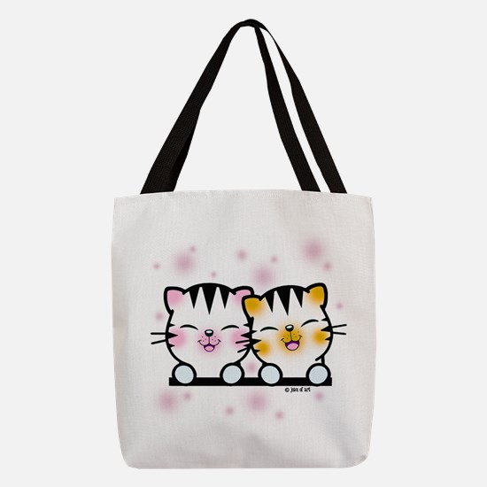 Happy Cats Polyester Tote Bag