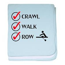 Crawl Walk Row baby blanket