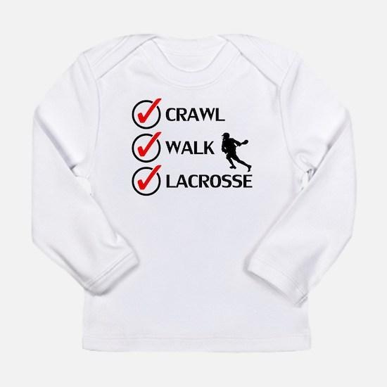 Crawl Walk Lacrosse Long Sleeve T-Shirt