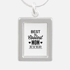Best & Coolest Mom Ever Silver Portrait Necklace