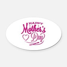 Happy Mother's Day Oval Car Magnet