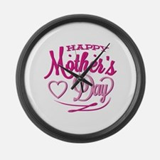 Happy Mother's Day Large Wall Clock