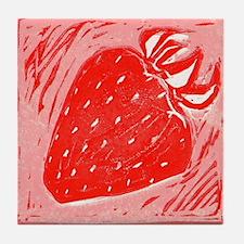 Spring Strawberry Tile Coaster