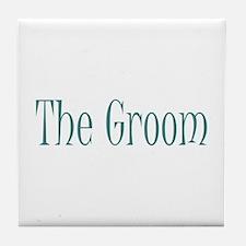 Groom - Muddy Green Tile Coaster