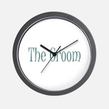 Groom - Muddy Green Wall Clock
