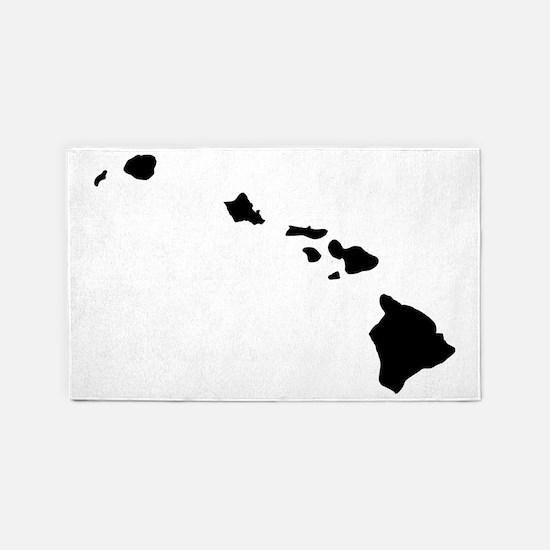 Black Hawaii 3'x5' Area Rug