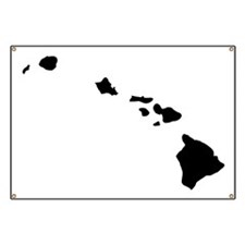 Black Hawaii Banner