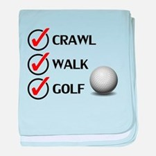 Crawl Walk Golf baby blanket