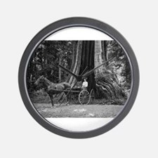 Carriage in the Hollow Tree Wall Clock