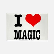 I Heart (Love) Magic Rectangle Magnet