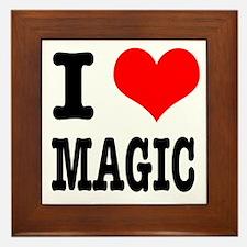 I Heart (Love) Magic Framed Tile