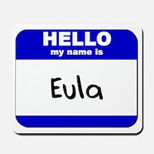 hello my name is eula  Mousepad