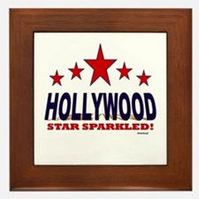 Hollywood Star Sparkled Framed Tile