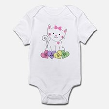 Valentine Kitty Infant Bodysuit