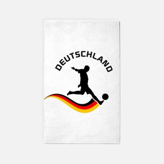 Soccer Deutschland Player 3'x5' Area Rug