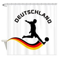 Soccer Deutschland Player Shower Curtain