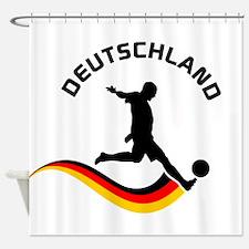 Soccer Deutschland Player Shower Curtain