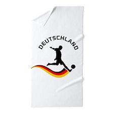 Soccer Deutschland Player Beach Towel