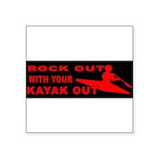 kayak-bumpersticker Sticker
