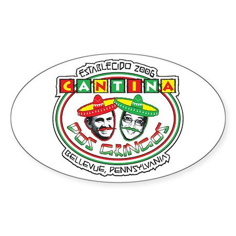 Cantina Dos Gringos Oval Sticker