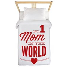 No 1 Mom In The World Twin Duvet