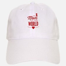 No 1 Mom In The World Baseball Baseball Cap