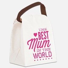 The Best Mum In The World Canvas Lunch Bag