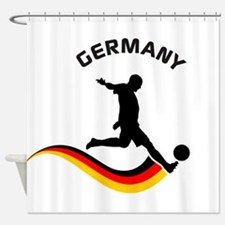 Soccer GERMANY Player Shower Curtain