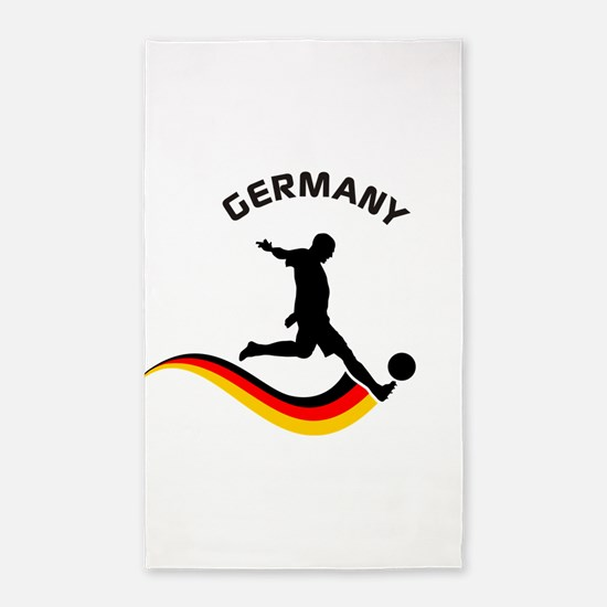 Soccer GERMANY Player 3'x5' Area Rug